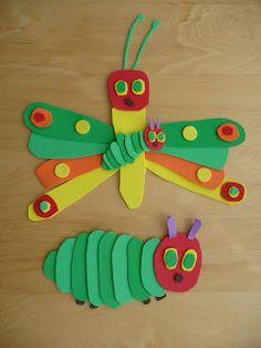 Crafts for kids on pinterest caterpillar craft hungry caterpillar