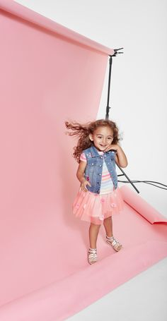 A denim vest is the perfect retro addition to an outfit   Toddler girls' style   Kids' fashion   The Children's Place