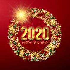 Happy New Year Vector, Happy New Year 2020, Share Pictures, Animated Gifs, New Year's Eve Celebrations, Public Holidays, Nye Party, New Years Eve Party, Christmas Art