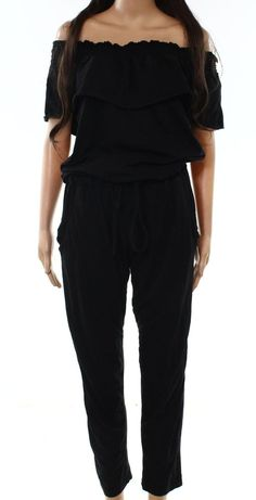 6c5725a40ff Designer Brand NEW Black Womens Size Large L Drawstring Jumpsuit  59- 773   fashion