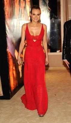 Diane Kruger Goes Supersexy in Red Bra-Revealing Dress For Vanity Fair Oscars Bash - www.popsugar.com