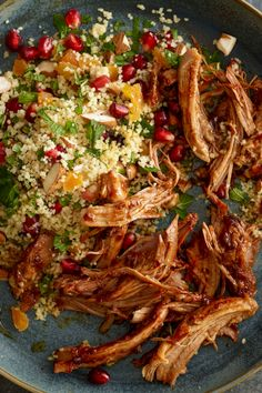 Try our pulled pork with fruity couscous recipe. For even tastier results rub the Moroccan spice mix into the meat and pop in the fridge overnight - you can thank us tomorrow!