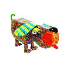 Modern Dog sculpture, collectible, Dog, home decor Dog, Dog sculpture, Dog metal, Dog decoration, Dog art, Dog lover, art, sculpture, Israel  Welcome to my Etsy shop http://www.etsy.com/shop/MIRAKRIS  This lovely Dog made by hand from polymer clay and metal base The body is covered with miilifiori cane This is the most beautiful art piece to decorate your home and its one of a kind Size: 12 (30cm) tall 13 (33cm) width approximately  I accept payment via Pay-Pal  All my ite...