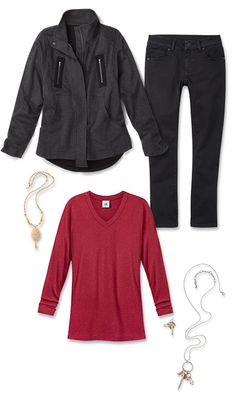 Check out five unique ways to mix and match the Mesh-Back Jacket with other cabi items!