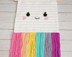 Curated Gifts They'll Keep Forever by YalisAndYabosCrochet on Etsy Crochet Gifts, Crochet Yarn, Yarn Wall Art, Knitting Club, Crochet Wall Hangings, Pixel Pattern, Rainbow Crochet, Crochet Home Decor, Crochet Patterns Amigurumi