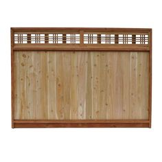 6 ft. x 8 ft. Western Red Cedar Horizontal Lattice Top Fence Panel-54111 - The Home Depot