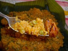 Arroz con Gandules is the traditional dish of Puerto Rico. It is usually served along with our roast pork, Pernil. You will find this dish being served during the holidays and when having a party...