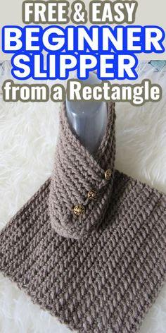 Easy Crochet Slippers, Crochet Slipper Boots, Knit Slippers Free Pattern, Crochet Slipper Pattern, Crochet Socks, Free Crochet, Knit Crochet, Felted Slippers, Crochet Granny