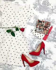 Swap the polka dots for hearts for the perfect little white dress for Valentine's Day.