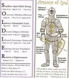 Armour of God BOOK MARK!! printable