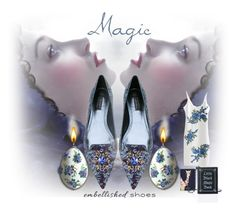 """""""Magic Slippers"""" by halloweenismyfav ❤ liked on Polyvore featuring Dolce&Gabbana, Kate Spade, Current Mood, embellishedshoes and magicslippers"""