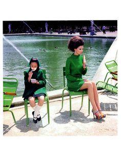 'A Family Portrait' ~ Bianca Balti by Miles Aldridge for Vogue Italy, August 2011