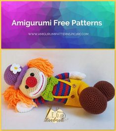 Amigurumi Cute Clown Free Crochet Pattern – Amigurumi Patterns Best Picture For Crochet Pattern for kids hats For Your Taste You are looking for. Crochet Patterns Amigurumi, Crochet Blanket Patterns, Amigurumi Doll, Baby Blanket Crochet, Crochet Dolls, Cute Clown, Crochet Dinosaur, How To Start Knitting, Stampin Up