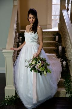 Bride descends the stairs