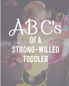 ABC's of Dealing With a Strong-Willed Toddler                                                                                                                                                                                 More