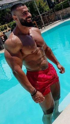 Muscular Men, Male Poses, Body Inspiration, Male Body, Perfect Body, Bearded Men, Gorgeous Men, Man, Gym Men