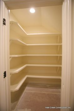 For my under stairs cupboard - larder cupboard