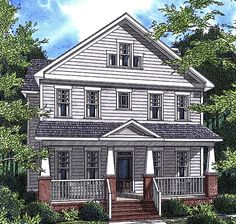 House Plan 80235   Historic    Plan with 3173 Sq. Ft., 4 Bedrooms, 4 Bathrooms, 2 Car Garage