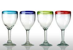 Set of 4 Assorted Baja Goblets on OKL today
