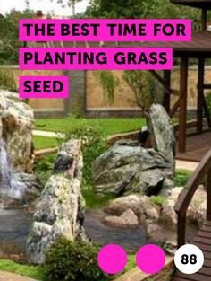 The Best Time for Planting Grass Seed. The first step to sowing grass seed is determining the best time to plant grass. Although grass seed can be planted in the spring with good results, most gardening experts recommend planting it in early fall, before the first frost. The season, however, is not the only factor that should determine when to...