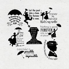 Check out our disney silhouette quote selection for the very best in unique or custom, handmade pieces from our shops. Disney Fantasy, Mary Poppins Quotes, Star Wars Silhouette, Silhouette Images, My Motto, Photoshop, Illustrator, Disney Quotes, Printable Quotes