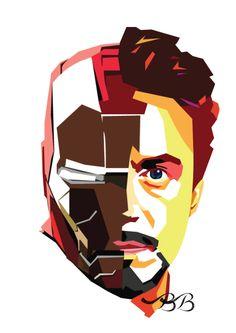 Tony Stark - art by Beatrys Bernardo