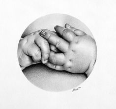 Pencil Drawing  Fine Art Print Signed by Artist by IleanaHunter, $14.99 baby hands ... Amazing Artist !