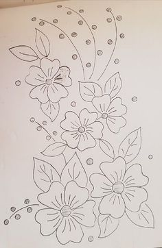 Hand Embroidery Patterns Flowers, Hand Embroidery Projects, Border Embroidery Designs, Hand Embroidery Videos, Embroidery Stitches Tutorial, Embroidery Motifs, Vintage Embroidery, Snow Flakes Drawing, Pencil Drawings Of Flowers