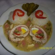 Fotografie receptu: Kuřecí ptáčci deluxe Czech Recipes, Ethnic Recipes, No Salt Recipes, Stew, Sushi, Food And Drink, Mexican, Eggs, Chicken