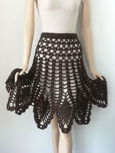 crochet /poncho skirt pattern via 20 Popular Free #Crochet Skirt Patterns for Women: