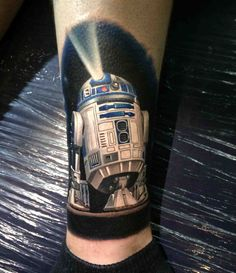 R2-D2 on my leg - done by Kegan Hawkins @ Ink N Iron in Long Beach on 6/8/14