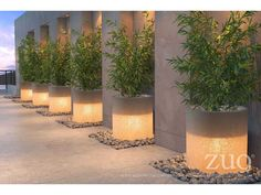Add illumination to your backyard or with this Atla White Illuminated Planter by Zuo Modern. It will create a bold, dynamic design in your space and add the atmosphere of drama to the landscape design. The planter is now on sale at Modern Landscape Design, Modern Garden Design, Landscape Plans, Modern Landscaping, Backyard Landscaping, Landscaping Ideas, Landscape Architecture, Architecture Design, Backyard Lighting