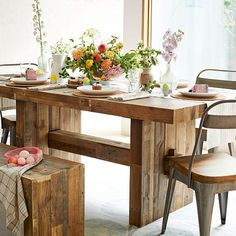 Reclaimed is the name of the game: Emmerson™ Reclaimed Wood Dining Table | west elm.