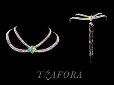Swarovski ballroom necklace. Ballroom dance jewelry, ballroom dance accessories. www.tzafora.com Copyright © 2015 Tzafora. Handmade in Canada. 3