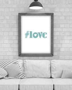 Digital Download '#love' Typography Poster, Printable Art, Instant Download, Wall Prints, Digital Art, typography quote, Scandinavian print by KirstyPDesigns on Etsy Coffee Typography, Typography Quotes, Typography Poster, Frame It, Wall Prints, Printable Wall Art, Online Printing, Digital Art, Printables