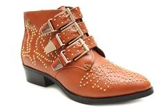 Nova Studded Buckle Ankle Boots