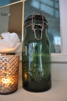 Vintage French Canning Jar La Lorraine 1 Litre by VieBrocante, $75.00
