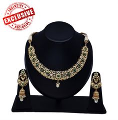 Exclusive emerald semi bridal set