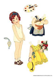paper dolls, ca. 1920s, Picasa Web Albums