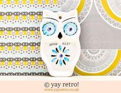 Owl Spoon Rest - Retro and Vintage China, Glassware and Kitchenalia - yay retro!