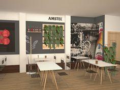 Ca'Luca Visualización en 3D del bar Creamos imágenes para que puedas visualizar como quedaría el restyling de tu bar. #bar #restyling #diseño #3d #restaurante #retail #interiorismo #deco