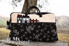 My country nest: Tapestry weekender bag