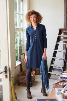 Womens Show On The Road Navy Jersey Dress | Mistral