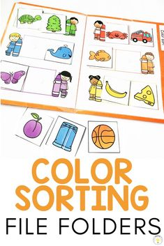 Need ideas to work on basic concepts for your toddler, preschooler, or special education / speech therapy student? These basic skill file folders are great for kids who need something they can do on their own at their independent work station. They work on pre-academic foundational learning skills such as matching, letters, numbers, colors, shapes, categories, and sorting and can help teachers make learning fun! 8 FREE printable errorless folders! #colorsorting #teacherfreebie