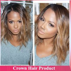 Online Shop HOT Fashion Two Tone 1b/#14 Brazilian Human Hair Glueless Bonde Ombre Lace Front Wig for Black Women With Baby Hair Freeshipping|Aliexpress Mobile