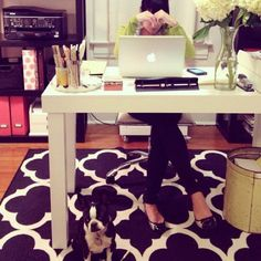 obsessed with this rug for a future home office