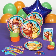 Lion King Party Supplies for Lukey