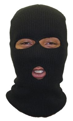 36f140b8bf7 Private Island Party - Three Hole Knit Ski Mask - Black 3056