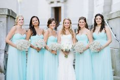 Babyblue bridesmaid dresses: Wtoo Maids - Annapolis Naval Academy Wedding from Natalie Franke Photography