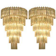 Huge Pair of Venini Triedi Sconces29 in. (74 cm) WIDTH:20.25 in. (51 cm) DEPTH:11 in. (28 cm)